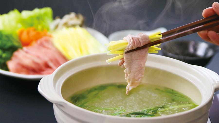 黄ニラしゃぶしゃぶ鍋のイメージ写真